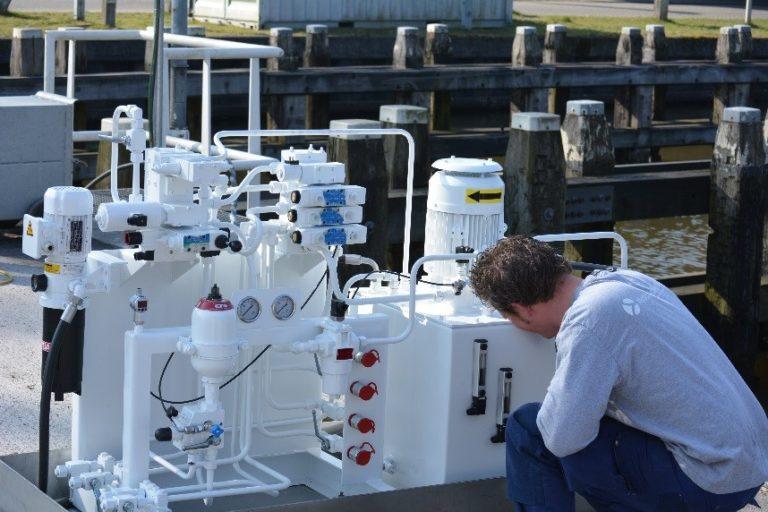 hydropneumotion project sluis hydrauliek unit