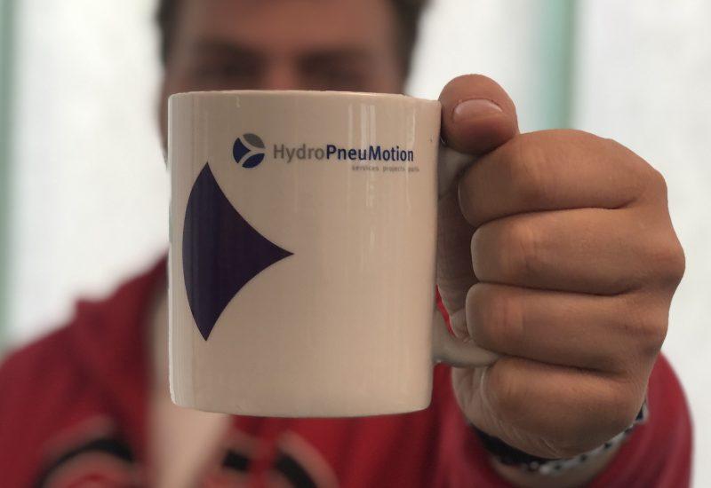 hydropneumotion training bakje koffie